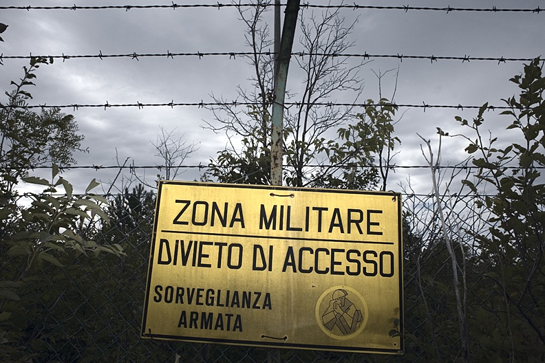 inside military areas