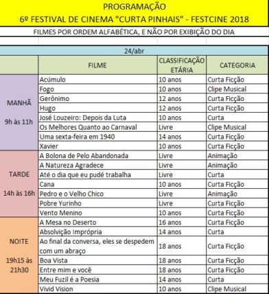 XAVIER AT CURTA PINHAIIS - FESTCINE 2018