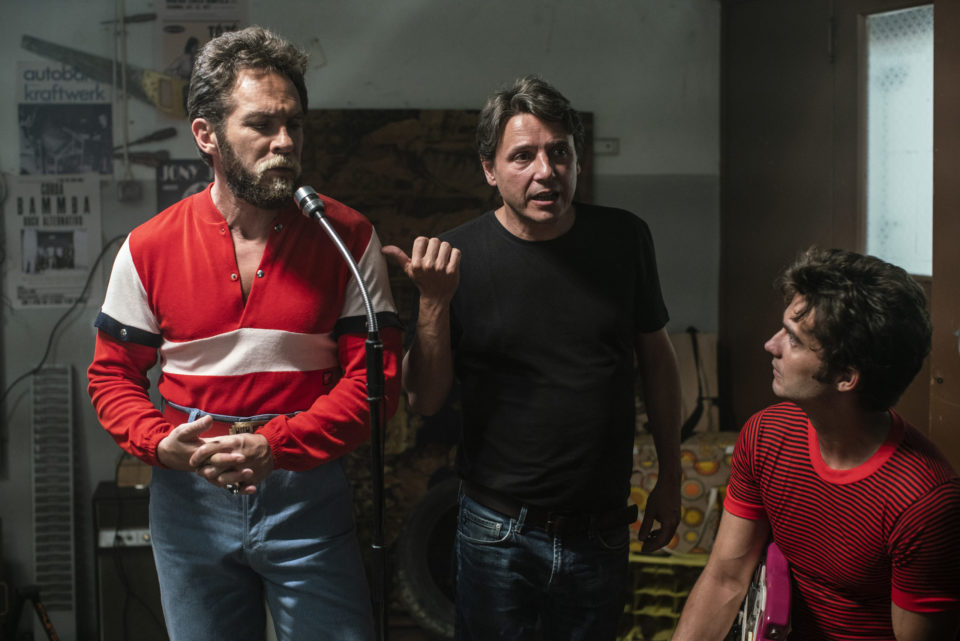 Film director Joao Maia speaking to Sergio Praia, who performs as Antonio Variacoes during the production of Variacoes Movie.  Promotional material, no release, no publication, no crop. Only with wirtten consent by the photographer Joao Pina.